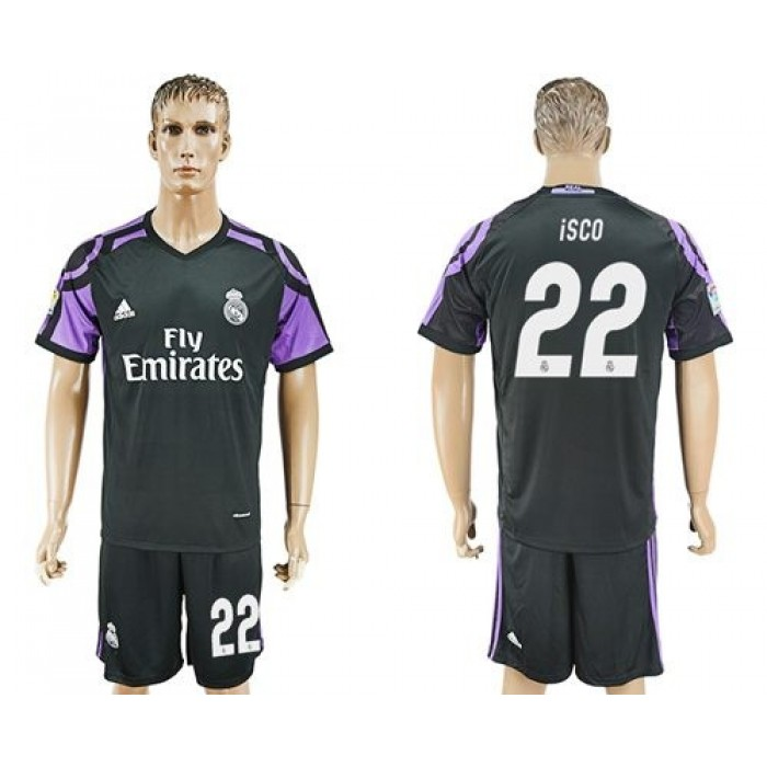 Real Madrid #22 Isco Sec Away Soccer Club Jersey