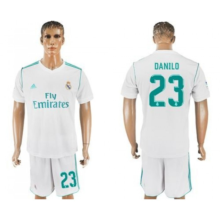 Real Madrid #23 Danilo White Home Soccer Club Jersey