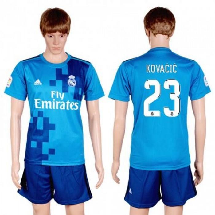 Real Madrid #23 Kovacic Sec Away Soccer Club Jersey