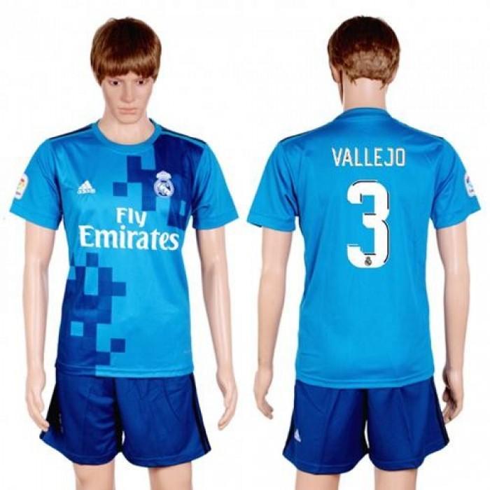 Real Madrid #3 Vallejo Sec Away Soccer Club Jersey