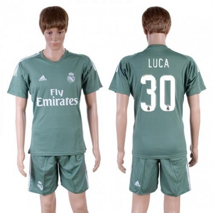 Real Madrid #30 Luca Green Goalkeeper Soccer Club Jersey