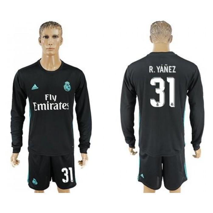Real Madrid #31 R.Yanez Away Long Sleeves Soccer Club Jersey