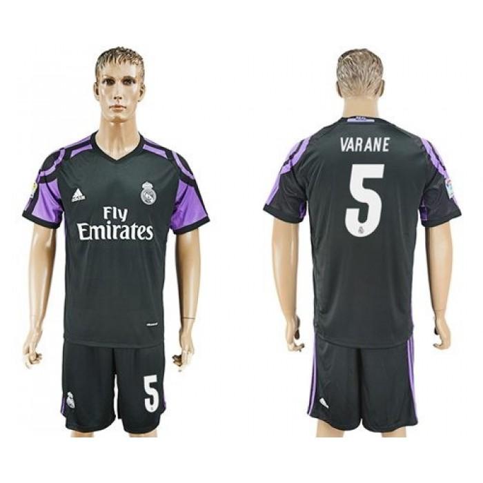 Real Madrid #5 Varane Sec Away Soccer Club Jersey