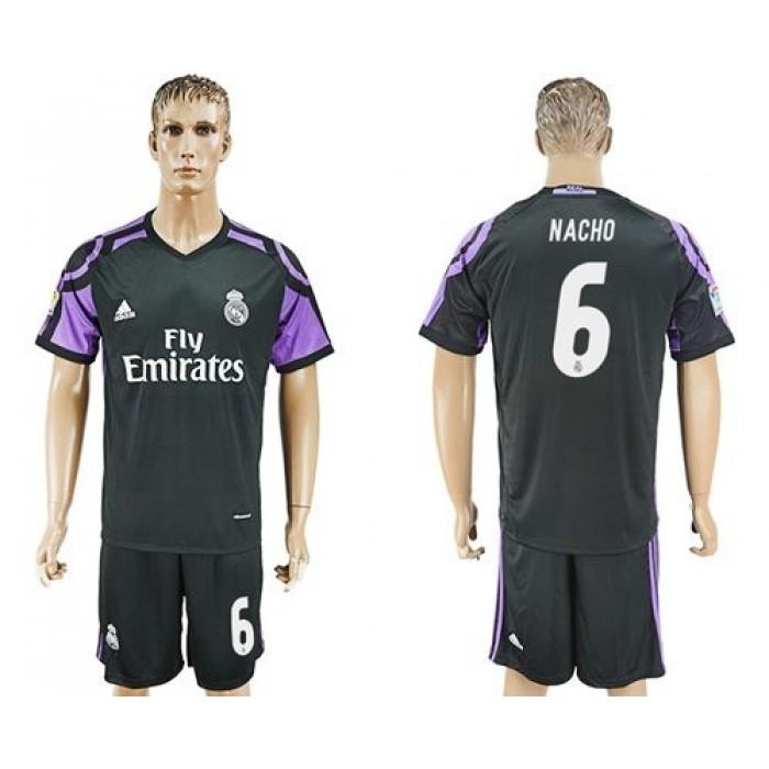 Real Madrid #6 Nacho Sec Away Soccer Club Jersey