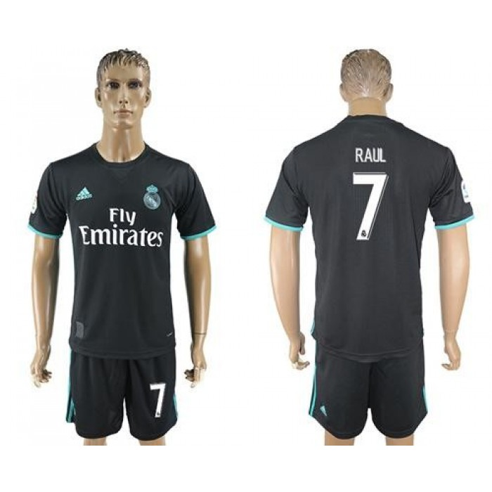 Real Madrid #7 Raul Away Soccer Club Jersey
