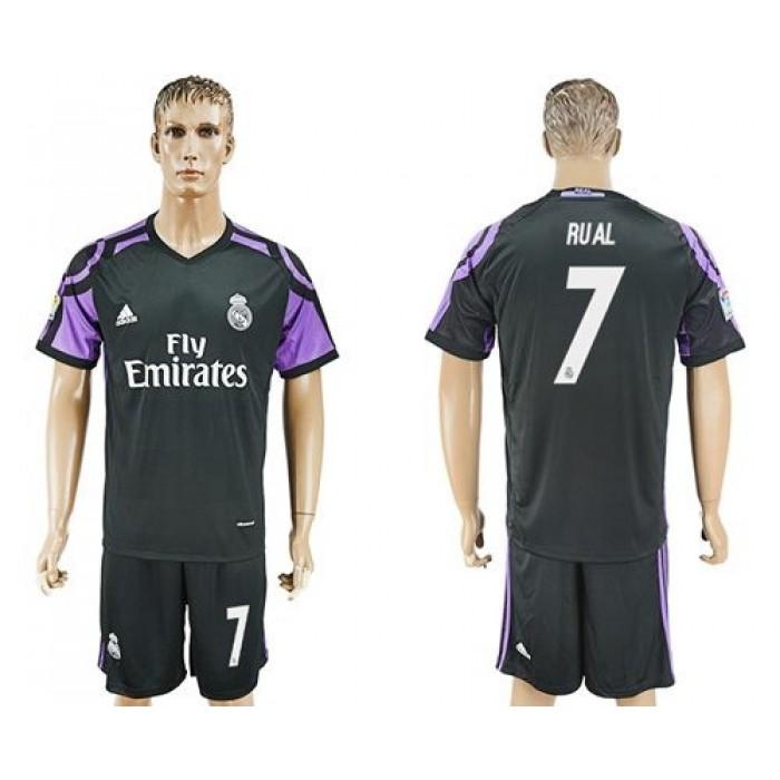 Real Madrid #7 Raul Sec Away Soccer Club Jersey