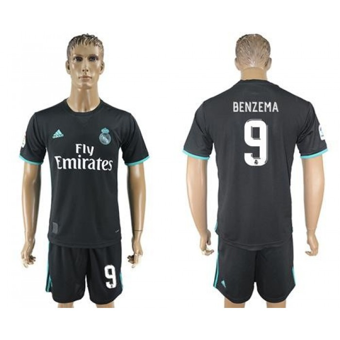 Real Madrid #9 Benzema Away Soccer Club Jersey