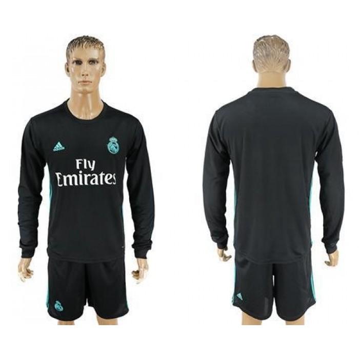 Real Madrid Blank Away Long Sleeves Soccer Club Jersey