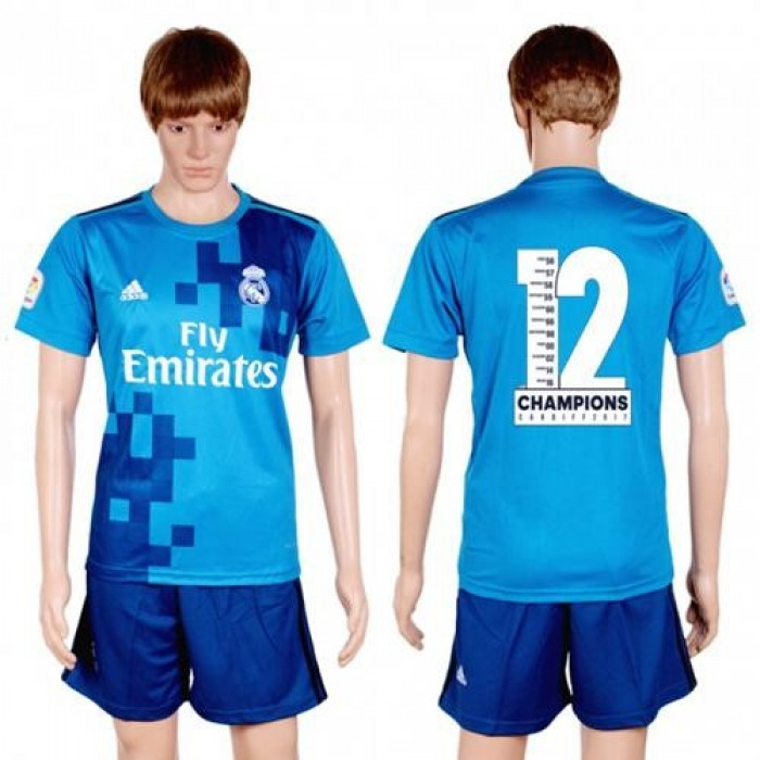 Real Madrid Blank Champions Away Soccer Club Jersey