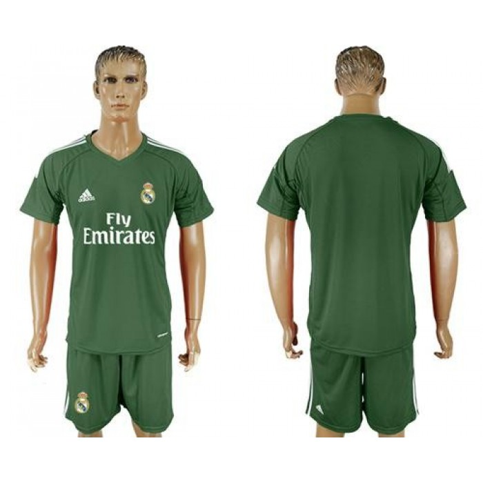 Real Madrid Blank Green Goalkeeper Soccer Club Jersey