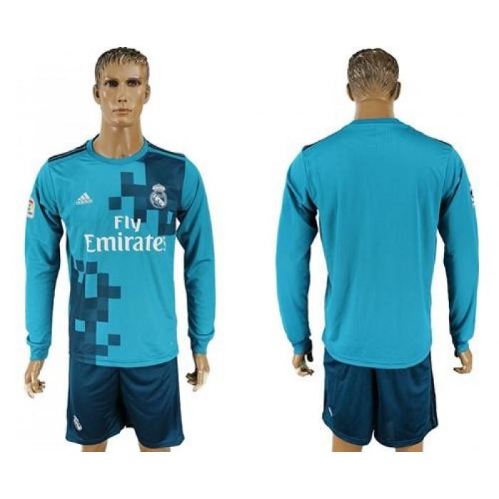 Real Madrid Blank Sec Away Long Sleeves Soccer Club Jersey