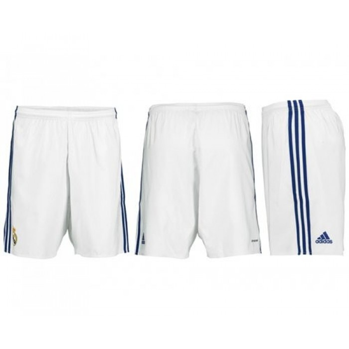 Real Madrid Blank White Home Shorts Jersey