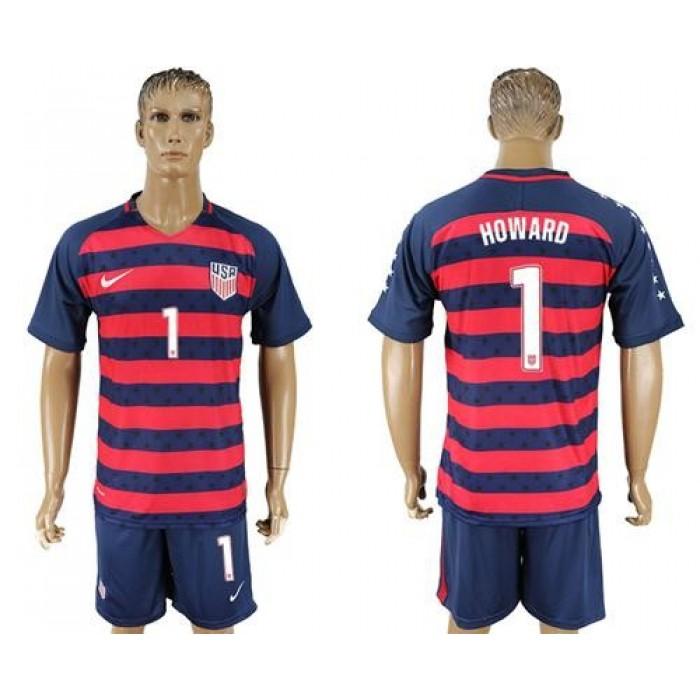 USA #1 Howard Away Soccer Country Jersey