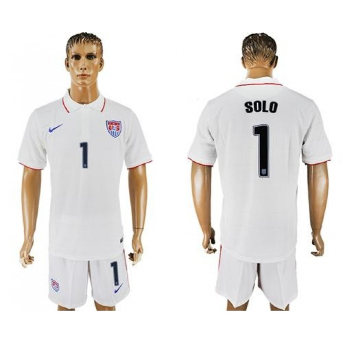 USA #1 Solo Home Soccer Country Jersey
