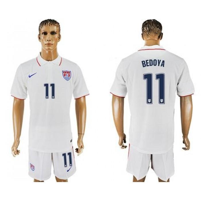USA #11 Bedoya Home Soccer Country Jersey