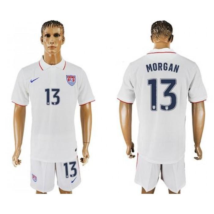 USA #13 Morgan Home Soccer Country Jersey
