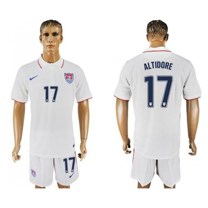 USA #17 Altidore Home Soccer Country Jersey