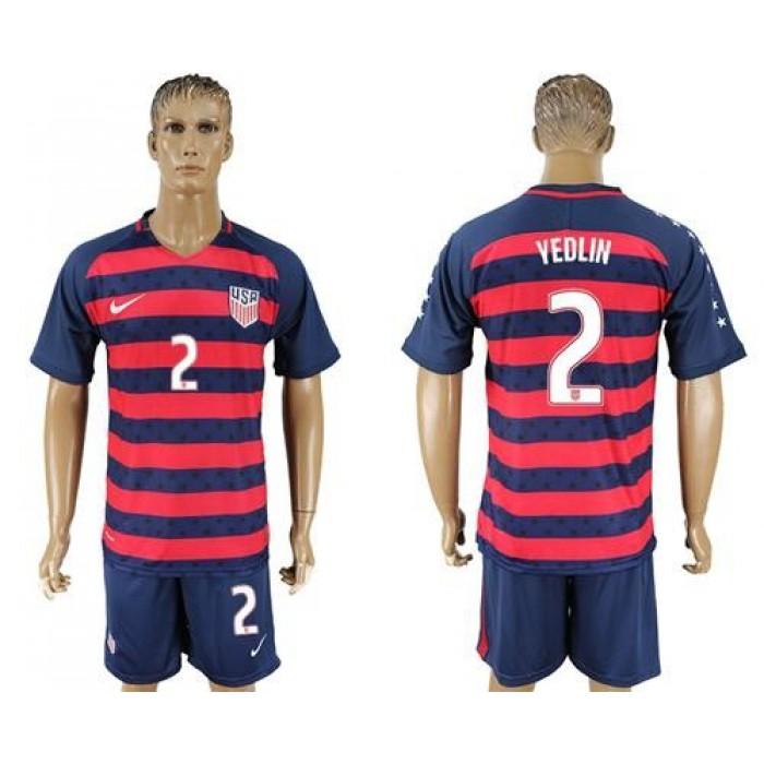 USA #2 Yedlin Away Soccer Country Jersey
