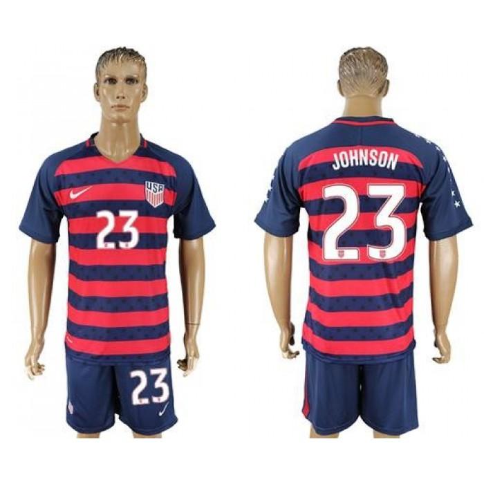 USA #23 Johnson Away Soccer Country Jersey