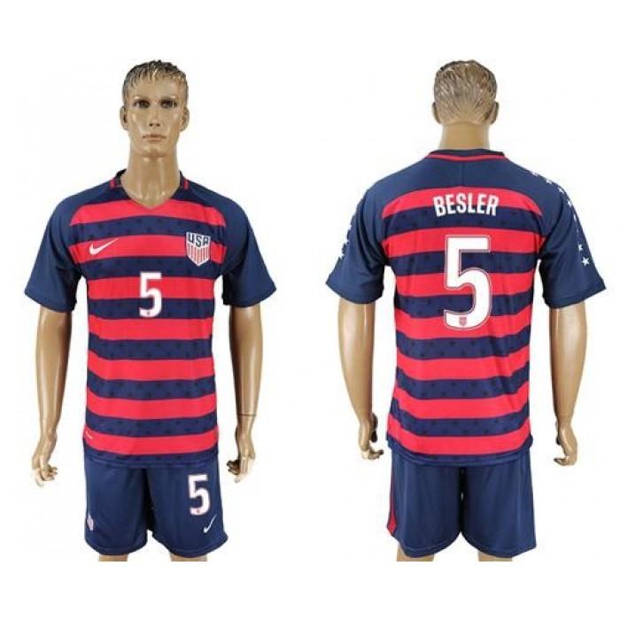 USA #5 Besler Away Soccer Country Jersey