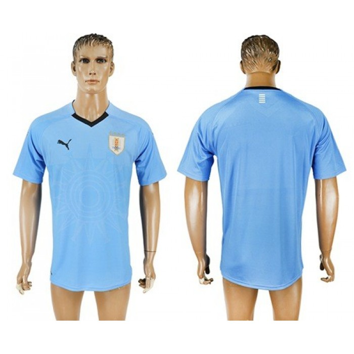Uruguay Blank Home Soccer Country Jersey