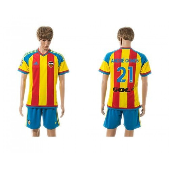 Valencia #21 Andre Gomes Away Soccer Club Jersey