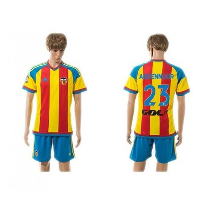 Valencia #23 Abdennour Away Soccer Club Jersey