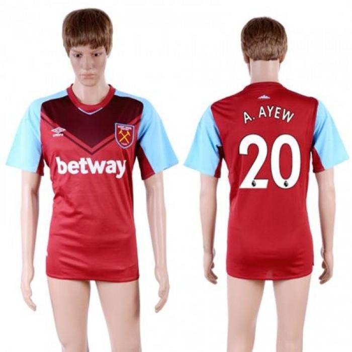 West Ham United #20 A.Ayew Home Soccer Club Jersey