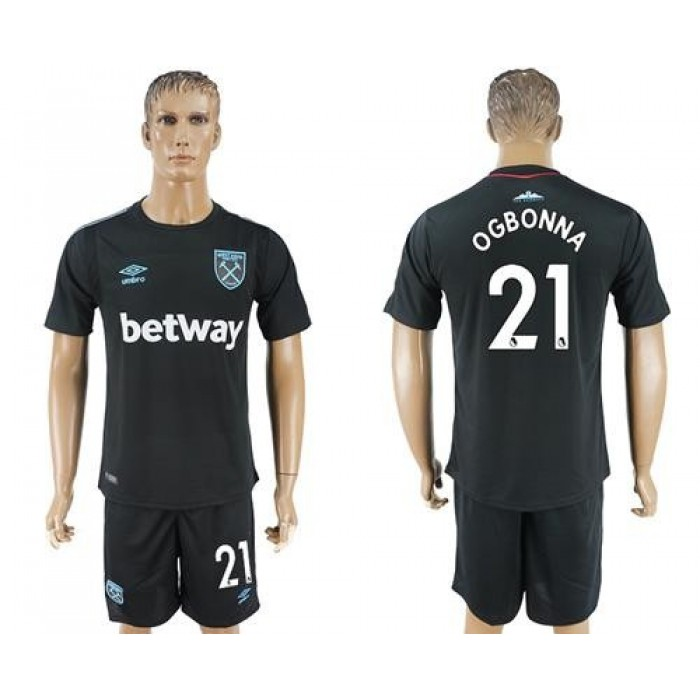 West Ham United #21 Ogbonna Away Soccer Club Jersey