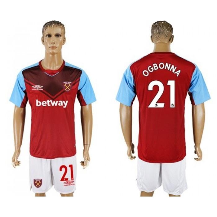 West Ham United #21 Ogbonna Home Soccer Club Jersey