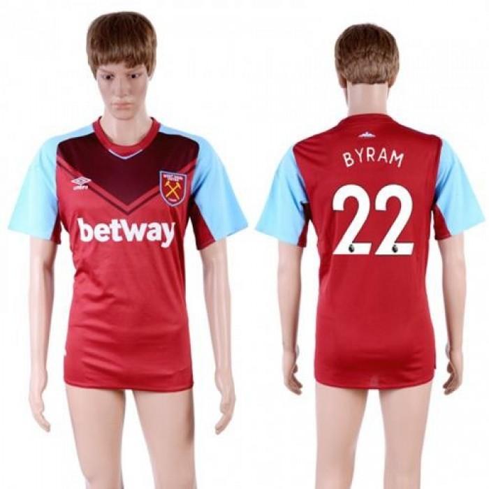 West Ham United #22 Byram Home Soccer Club Jersey