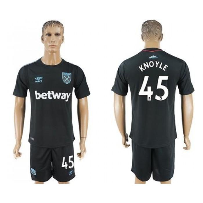 West Ham United #45 Knoyle Away Soccer Club Jersey