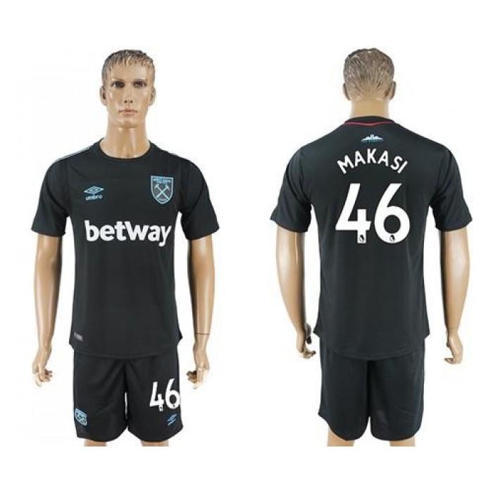 West Ham United #46 Makasi Away Soccer Club Jersey