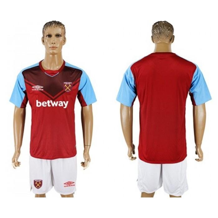 West Ham United Blank Home Soccer Club Jersey